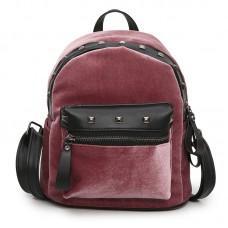 Рюкзак Jesse Velor Pink