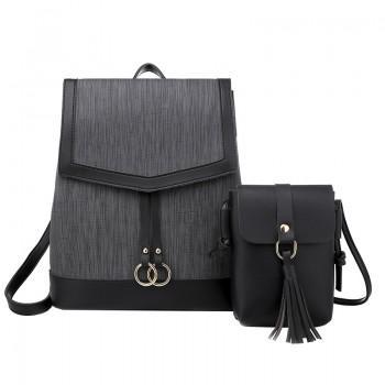 Набор рюкзак сумка 2 в 1 Amelie AV Black