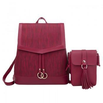 Набор рюкзак сумка 2 в 1 Amelie AV Red