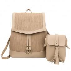 Набор рюкзак сумка 2 в 1 Amelie AV Beige