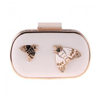 Вечерняя сумка Bluebell Butterfly White